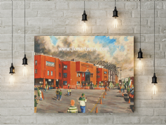celtic park going to the match canvas a3 size (1)